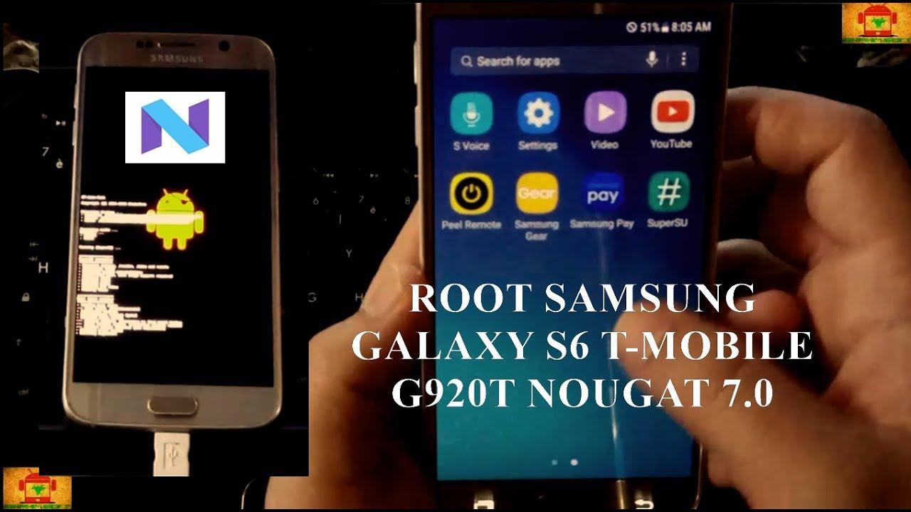 Root Samsung Galaxy S6 G920T Nougat 7 0 CF Root Method