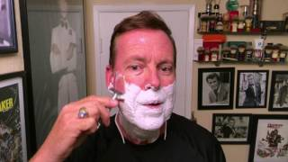 RazoRock - Dead Sea Shave Soap and German 37 Slant Razor. First use & opinion.