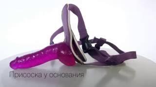 Страпон харнесс с фаллоимитатором TLC® Bree Olson Glitter Glam Strap On Harness and Dong TS1003060