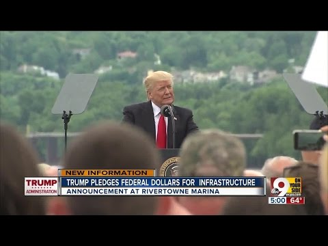 President Trump pledges $200 billion federal investment for infrastructure during Cincinnati speech