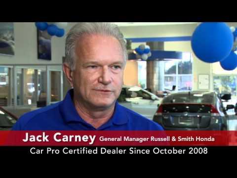 Car Pro Testimonial, Jack Carney, Russell U0026 Smith Honda 10/11