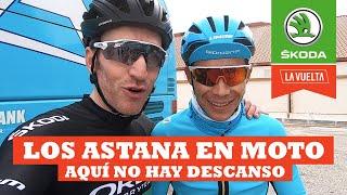 Los Astana van en moto | Ibon Zugasti | La Vuelta con Škoda