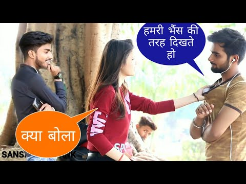 Staring at cute girls prank in India ! #2  2019 With song  || SANSKARI PRANK||