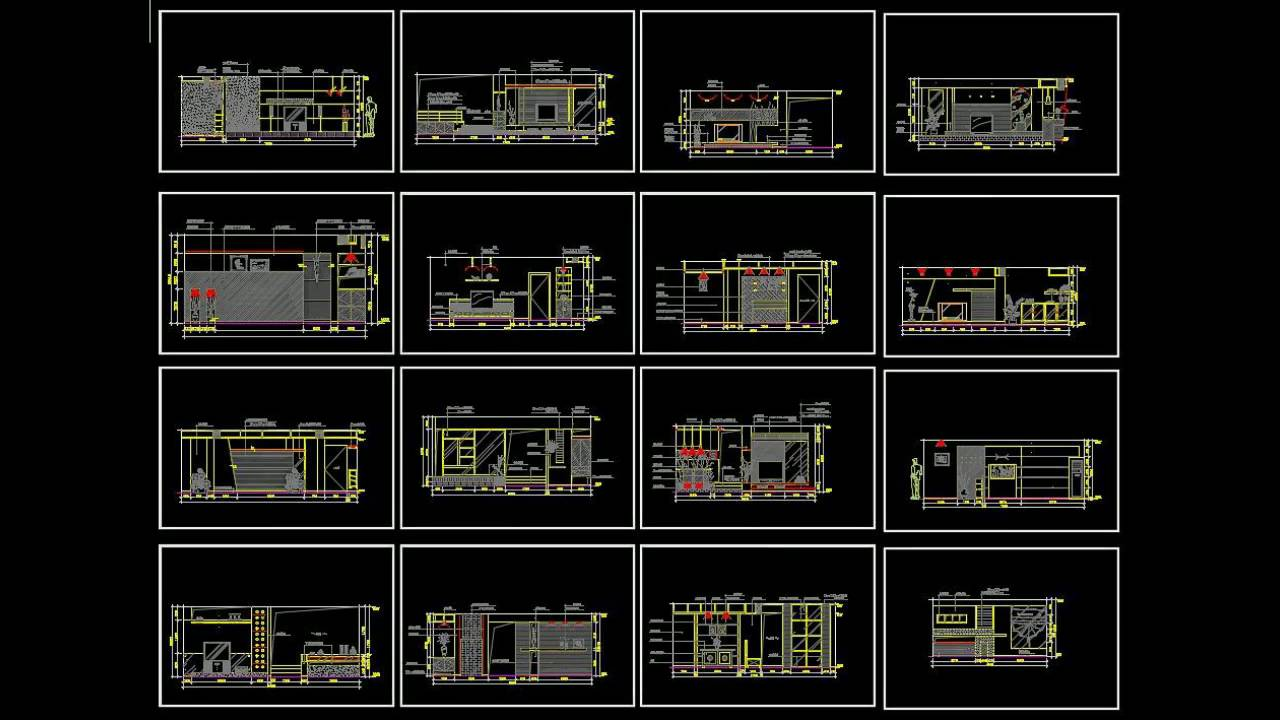 free cad drawings download interior design blocks