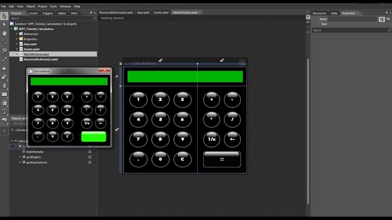 Creando una calculadora en C# y WPF 2013 - YouTube