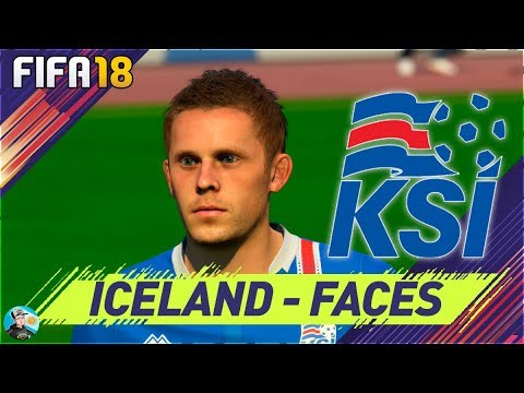 FIFA 18 Iceland Faces