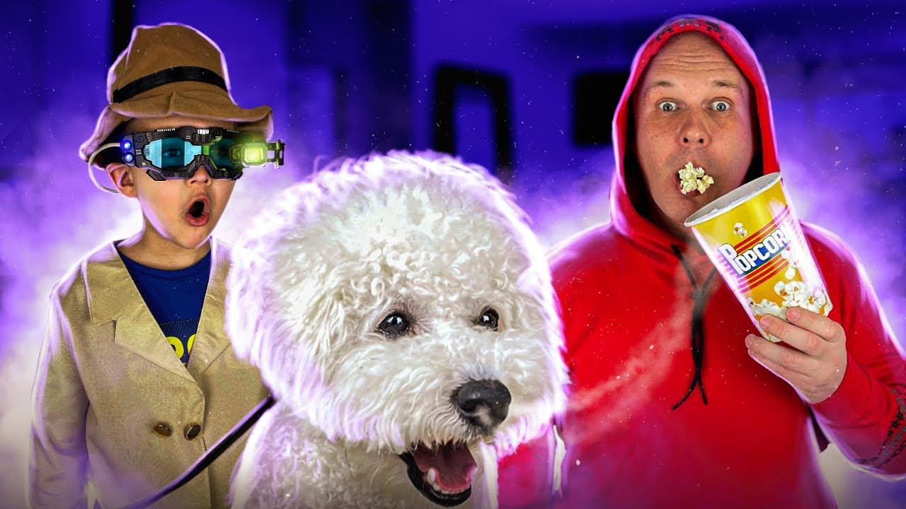 Весела історія про детектива, покорн і собаку.