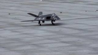 RC F117 Dropping Exploding Bombs