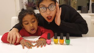 Ishfi's Playtime with Colorful Nail Polish