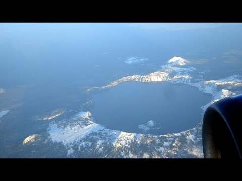 San Francisco to Seattle flight: Sacramento Delta, Mt. Lassen, Mt. Shasta, Crater Lake 2015-02-14