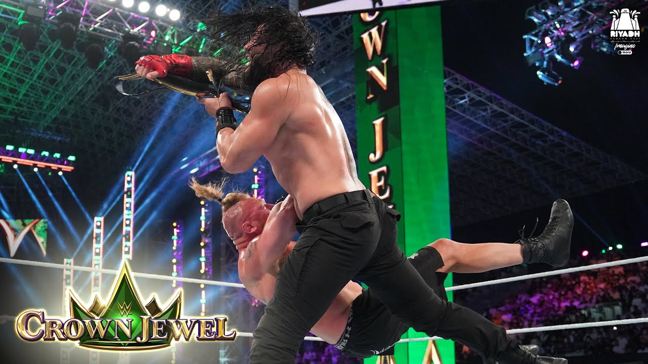 Download Brock Lesnar's F-5 to Roman Reigns comes back to hurt him: WWE Crown Jewel 2021