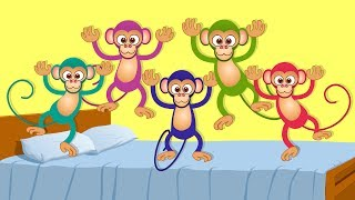 Five Little Monkeys | kids songs | nursery rhymes | kids tv | kids tv songs | 5 lil monkeys thumbnail