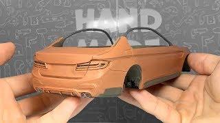 Делаю BMW M5 F90 из ПЛАСТИЛИНА своими руками, лепка из пластилина