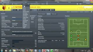 Football Manager 2012 Tutorial: Individual Player Training and Match Preparation