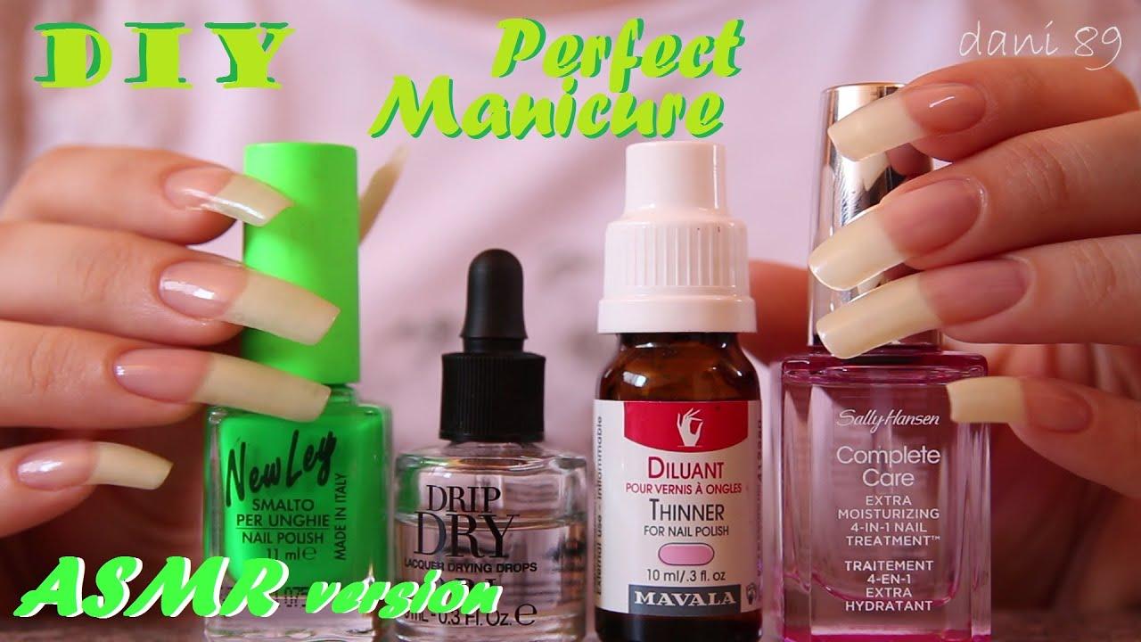 Asmr Binaural Italian Whispering Nail Care Routine Part 2 Polishing Green Fluo Nails