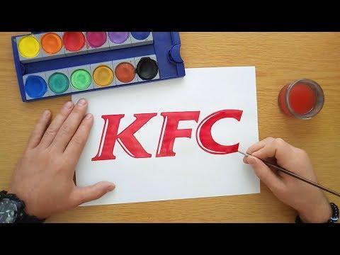 How To Draw A KFC Logo (KFC Wordmark)