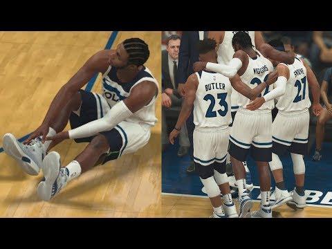 NBA 2K18 My Career - Wiggins Goes Down! PS4 Pro 4K Gameplay