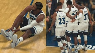 NBA 2K18 My Career - Wiggins Goes Down! PS4 Pro 4K Gameplay