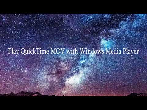 Play QuickTime MOV With Windows Media Player
