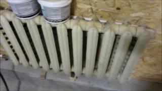 отопление в гараже на газу (пропан в балонах).