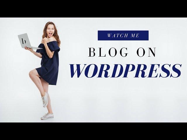 WordPress Blog | Watch Me Research Keywords [Step 1][14:37]