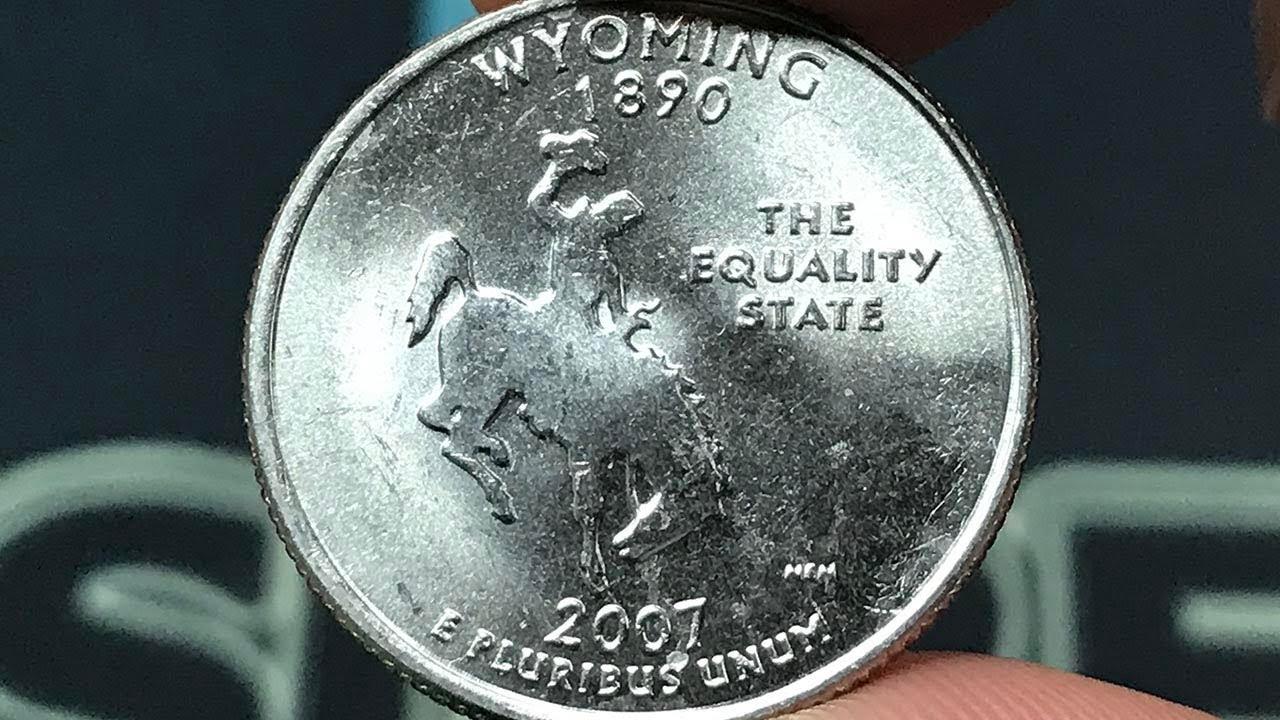 2007 Wyoming State Quarter P//D