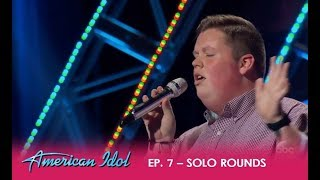 Noah Davis Get's Mixed Reaction From Judges After TOUGH Hollywood Week | American Idol 2018