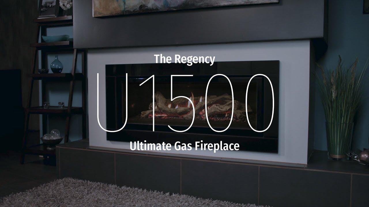 regency ultimate u1500e gas fireplace youtube