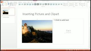 Microsoft PowerPoint 2013 Beginning Training Module - Adding Images & Clipart