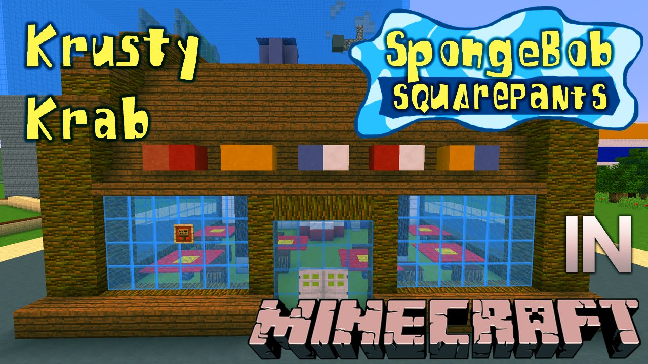minecraft spongebob krusty krab tour doovi
