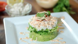 Spicy Crab & Avocado Salad Stacks, Wholly™ Kitchen With Chef Nathan Lippy, Wholly Guacamole