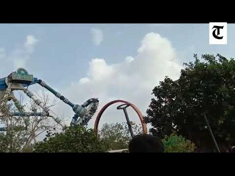 Joyride breaks down in Kankaria adventure Park in Ahmedabad