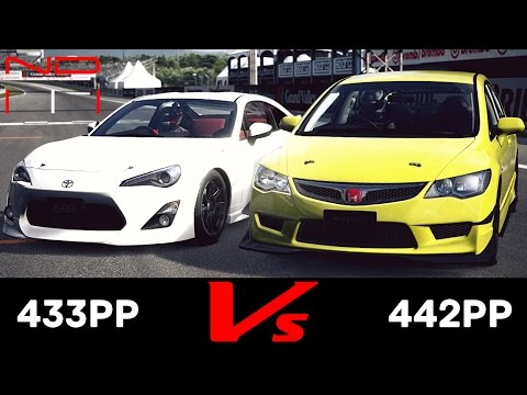 (GT6) Honda CIVIC TYPE R '08 vs TOYOTA 86 GT '12 - Grand Valley Speedway