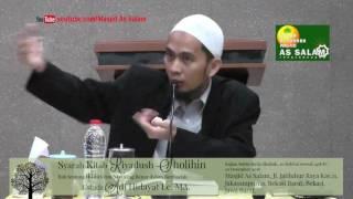 Riyadush Sholihin, Bab Ikhlas & Niat Ibadah| Ust.Adi Hidayat Lc.|Masjid AsSalam-101216