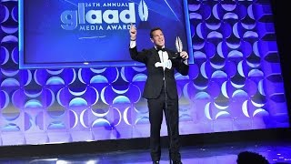 Lynda Carter and Thomas Roberts at the #glaadawards
