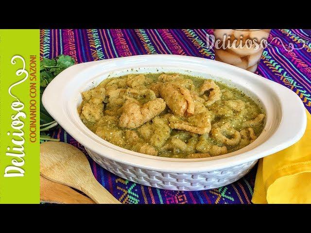 Delicioso Chicharron en Salsa Verde / Mexican Chicharron in Green Sauce