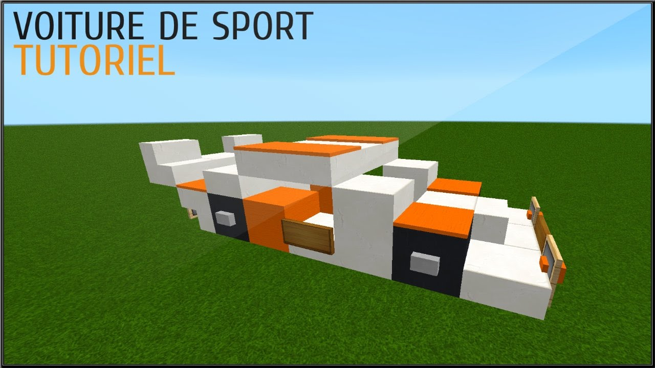 minecraft tuto comment faire une voiture de sport youtube. Black Bedroom Furniture Sets. Home Design Ideas