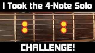 """I Took the """"4-Note"""" Solo CHALLENGE! Pink Floyd-Style"""