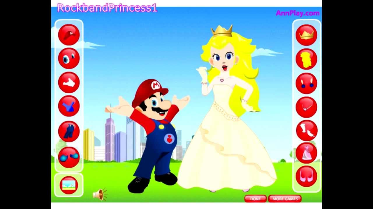 Super Mario Cartoon Game - Princess Peach And Mario Dress Up Games ...