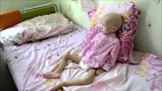 Сегодня ездили в больницу к ребенку, больному лейкозом Малышке 2