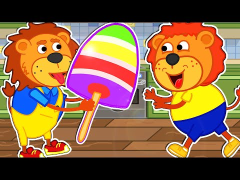 Lion Family Official Channel 🍨 Rainbow Ice cream | Cartoon for Kids