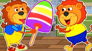 Lion Family Official Channel 🍨 Rainbow  Ce Cream  Cartoon For Kids