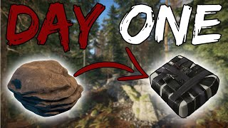 C4 ON DAY ONE ! - RUST SOLO SURVIVAL Ep1