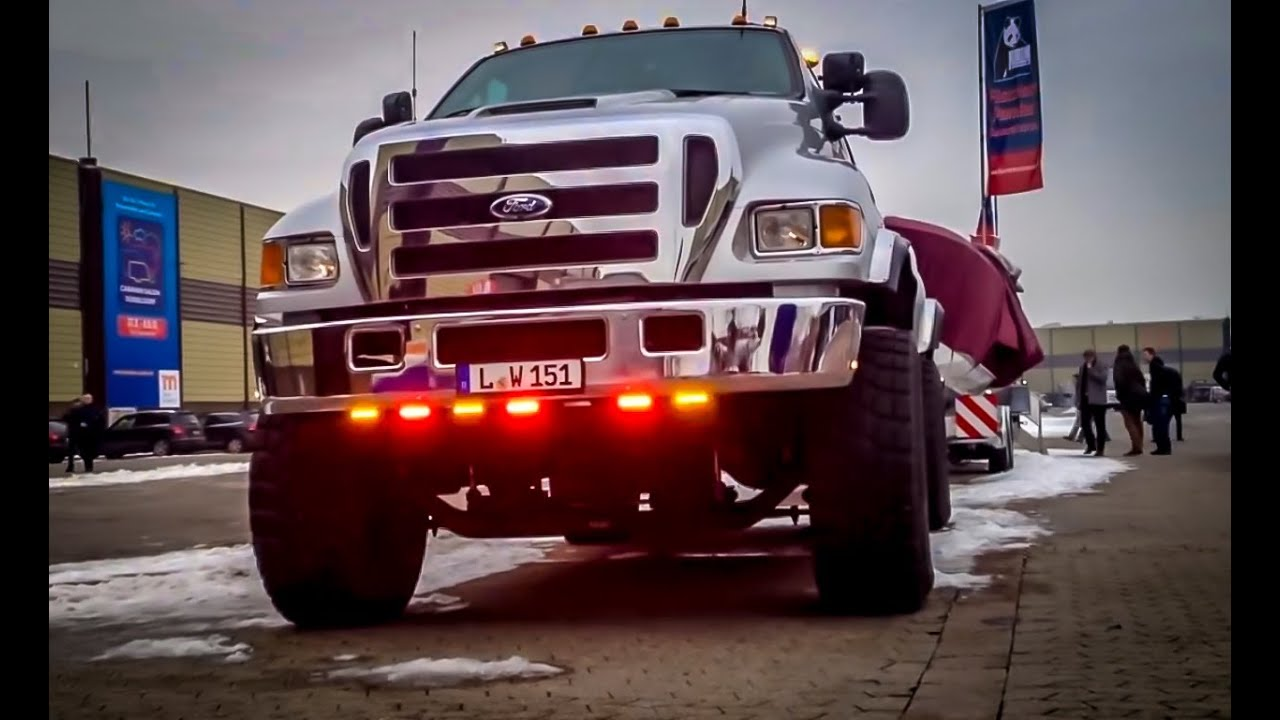 small resolution of epic ford f650 with boat trailer a really big thing