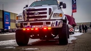 EPIC Ford F650 with boat trailer. A really big thing!