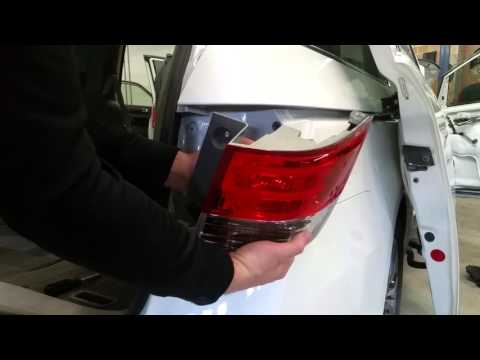 How to replace rear taillight, brake light bulb, turn signal bulb, on a 2011-2016 Honda Odyssey