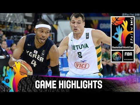 Lithuania v Korea - Game Highlights - Group D - 2014 FIBA Basketball World Cup