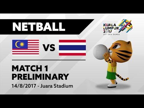 KL2017 29th SEA Games | Netball - MAS 🇲🇾 vs THA 🇹🇭