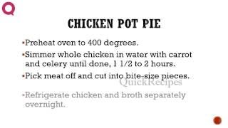 Chicken Pot Pie - How To