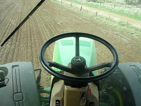 John Deere Autosteer (ITEC Pro 2010). In use while cultivating